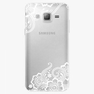 Plastový kryt iSaprio - White Lace 02 - Samsung Galaxy J3 2016