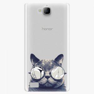 Plastový kryt iSaprio - Crazy Cat 01 - Huawei Honor 3C