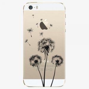 Plastový kryt iSaprio - Three Dandelions - black - iPhone 5/5S/SE