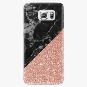 Plastový kryt iSaprio - Rose and Black Marble - Samsung Galaxy S6 Edge Plus