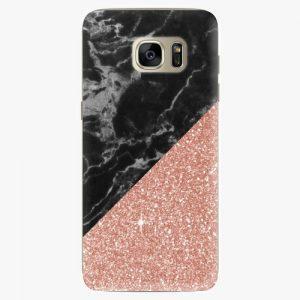 Plastový kryt iSaprio - Rose and Black Marble - Samsung Galaxy S7 Edge