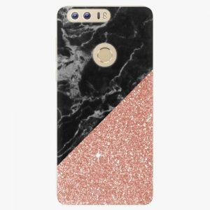 Plastový kryt iSaprio - Rose and Black Marble - Huawei Honor 8