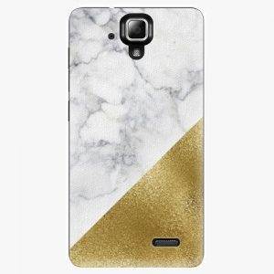 Plastový kryt iSaprio - Gold and WH Marble - Lenovo A536