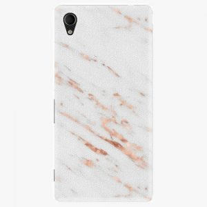Plastový kryt iSaprio - Rose Gold Marble - Sony Xperia M4