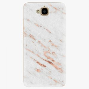 Plastový kryt iSaprio - Rose Gold Marble - Huawei Y6 Pro