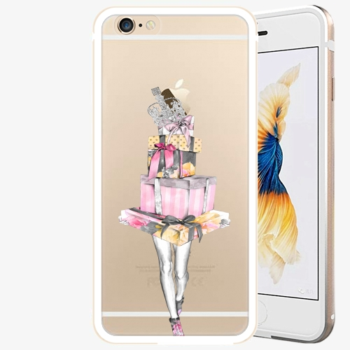 Plastový kryt iSaprio - Queen of Shopping - iPhone 6 6S - Gold ... 6b52f782c0a