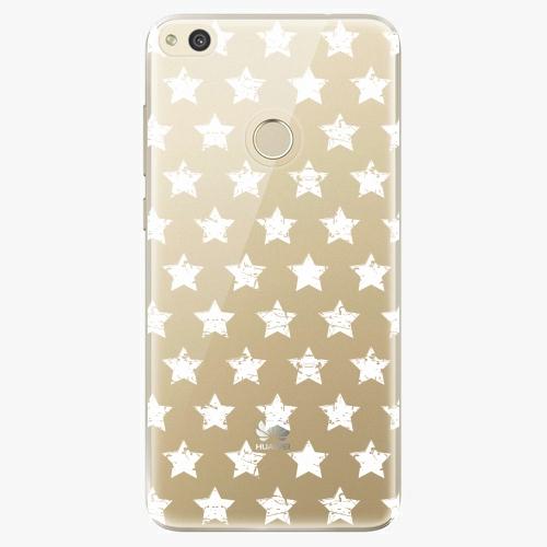 Plastový kryt iSaprio - Stars Pattern - white - Huawei P8 Lite 2017